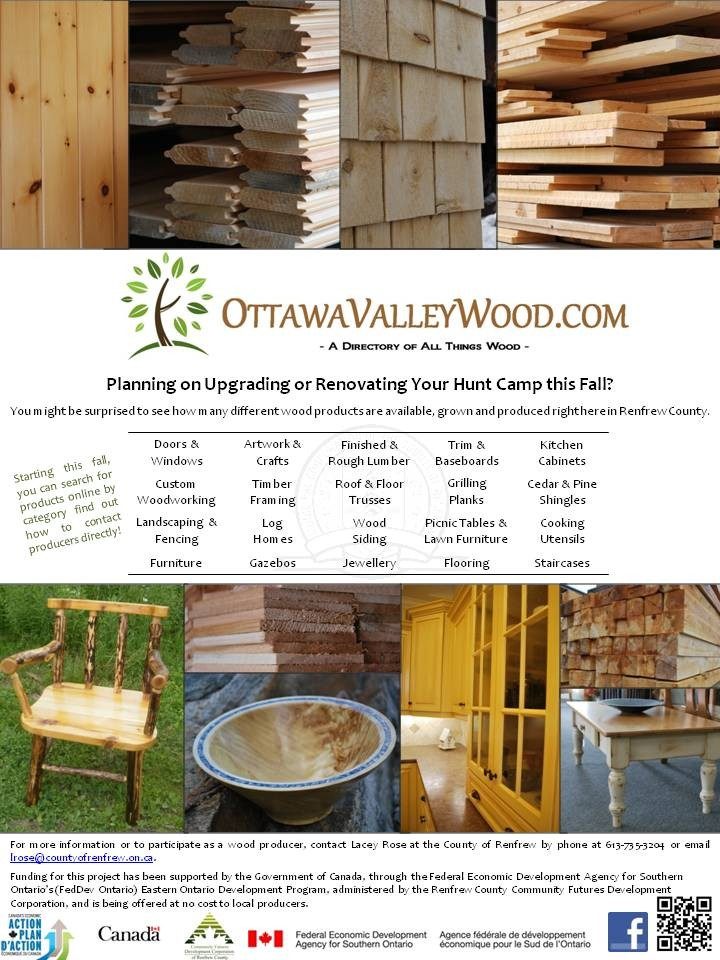 Ottawa Valley Wood | Back Cover in the Renfrew County Hunt Camp Newsletter