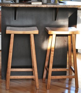 Sugar Maple Stools by Don Burchat